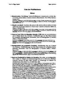 Liste der Publikationen