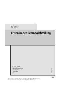 Listen in der Personalabteilung