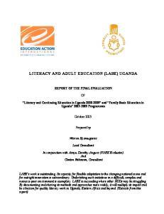 LITERACY AND ADULT EDUCATION (LABE) UGANDA