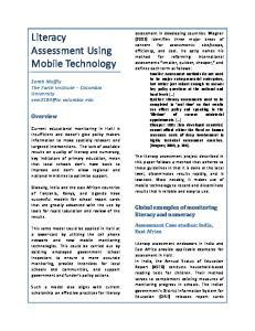 Literacy Assessment Using Mobile Technology