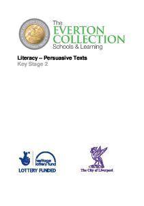 Literacy Persuasive Texts Key Stage 2