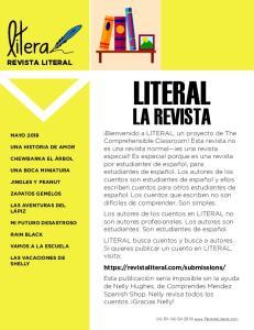 LITERAL LA REVISTA REVISTA LITERAL