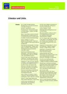 Literatur und Links. Anhang. Literatur und Links. Literatur