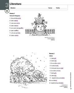 Literatura. Alumno: Curso: Fecha: Poema 1. Poema 2