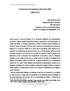 LITERATURA NOVOHISPANA DEL SIGLO XIX ( )