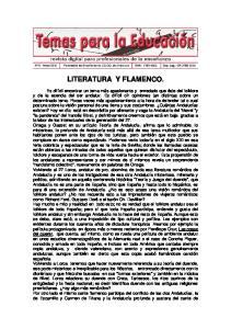 LITERATURA Y FLAMENCO