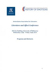 Literature and Affect Conference