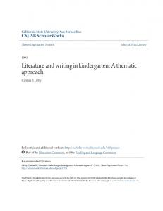 Literature and writing in kindergarten: A thematic approach