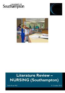 Literature Review NURSING (Southampton)