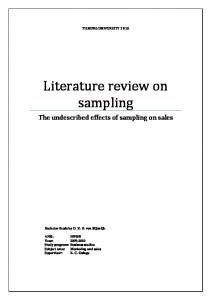 Literature review on sampling