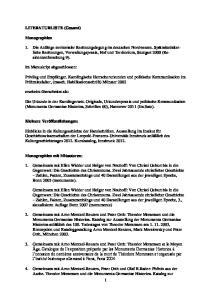 LITERATURLISTE (Gesamt) Monographien