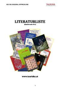 LITERATURLISTE (Stand Dezember 2015)