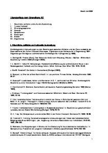 Literaturliste zum Grundkurs EZ