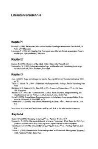Literaturverzeichnis. Kapitel 2. Kapitel 3. Kapitel 4. Kapitel'1