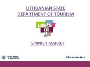 LITHUANIAN STATE DEPARTMENT OF TOURISM