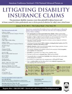 LITIGATING DISABILITY INSURANCE CLAIMS