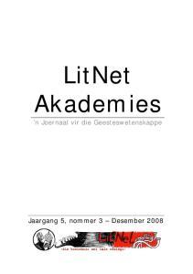 LitNet Akademies. n Joernaal vir die Geesteswetenskappe