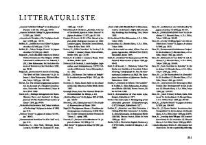 LITTERATURLISTE. in GA Architect 13: Hiroshi Hara,