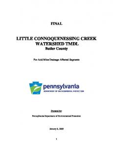 LITTLE CONNOQUENESSING CREEK WATERSHED TMDL Butler County