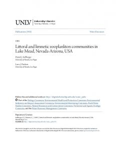 Littoral and limnetic zooplankton communities in Lake Mead, Nevada-Arizona, USA