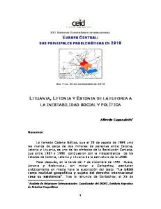 LITUANIA, LETONIA Y ESTONIA DE LA EUFORIA A