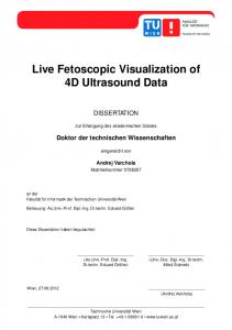 Live Fetoscopic Visualization of 4D Ultrasound Data