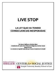 LIVE STOP LA LEY QUE HA TENIDO CONSECUENCIAS INESPERADAS