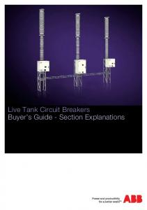 Live Tank Circuit Breakers Buyer s Guide - Section Explanations