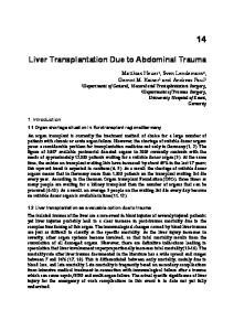 Liver Transplantation Due to Abdominal Trauma