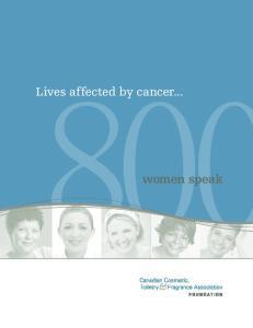 Lives affected by cancer... women speak