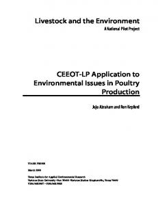 Livestock and the Environment. CEEOT-LP Application to Environmental Issues in Poultry Production