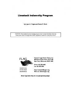 Livestock Indemnity Program