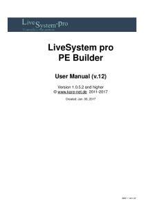 LiveSystem pro PE Builder