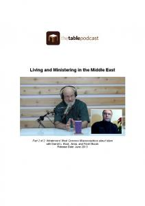 Living and Ministering in the Middle East
