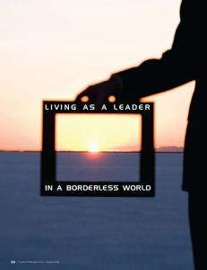 Living as a Leader. in a Borderless World