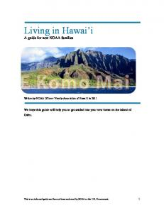 Living in Hawai i A guide for new NOAA families
