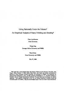 Living Rationally Under the Volcano? An Empirical Analysis of Heavy Drinking and Smoking