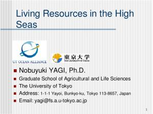 Living Resources in the High Seas