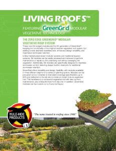 living roofs vegetative technology