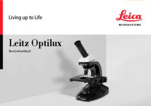 Living up to Life. Leitz Optilux. Benutzerhandbuch