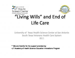 Living Wills and End of Life Care