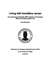 Living with hereditary cancer