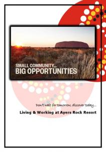 Living & Working at Ayers Rock Resort