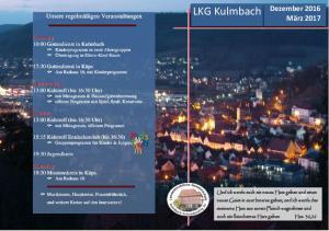 LKG Kulmbach. Dezember 2016 März 2017