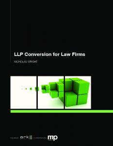 LLP Conversion for Law Firms. nicholas wright