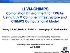 LLVM-CHiMPS Compilation Environment for FPGAs Using LLVM Compiler Infrastructure and CHiMPS Computational Model