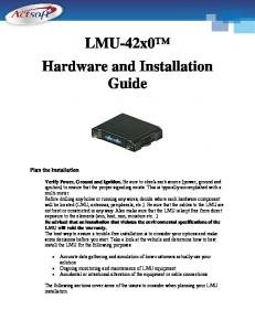 LMU-42x0 Hardware and Installation Guide