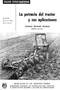 Ln potencia del tractor y sus aplicaciones