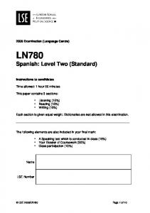 LN780 Spanish: Level Two (Standard)