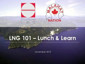 LNG 101 Lunch & Learn. November 2015